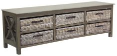 Low Tv unit with 6 basket drawers