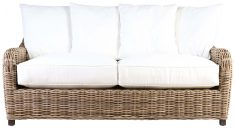 Block & Chisel cane outdoor 2 seater sofa