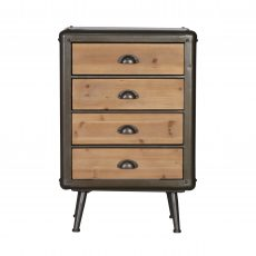 Block & chisel Industrial style bedside cabinet