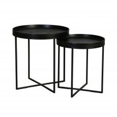 block and chisel nesting side tables
