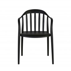 Black Outdoor PVC Dining Chair