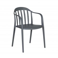 Grey PVC Outdoor Dining Chair