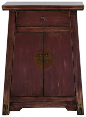 Block & Chisel wooden 2 door Chinese cabinet with 1 draw