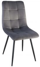 Block & Chisel grey velvet upholstered dining chair