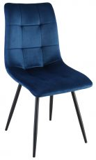 Block & Chisel navy blue velvet upholstered dining chair