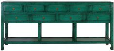 Block & Chisel green oriental inspired sideboard