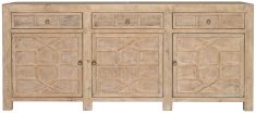 Block & Chisel natural old pine oriental inspired sideboard