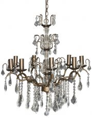 Block & Chisel iron and acrylic chandelier