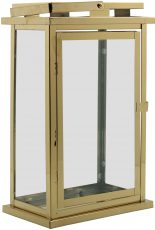 Block & Chisel golden stainless steel lantern