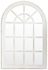 Block & Chisel cathedral styled mirror with white distressed wooden frame