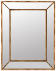 Block & Chisel rectangular mirror with antique gold frame
