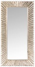 Block & Chisel rectangular mirror with country champagne bevel frame