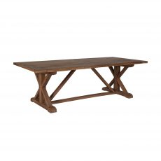Block and chisel Elm dining table