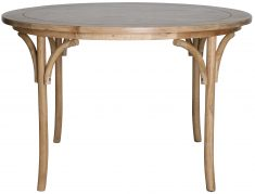 Block & Chisel round oak wood dining table