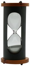 Block & Chisel wood and metal hour glass
