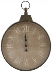 Block & Chisel round clock with roman numerals