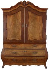 Block & Chisel european antique blond wood armoire