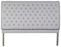 Block & Chisel button tufted headboard