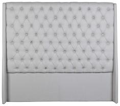 Block & Chisel wingback button tufted headboard