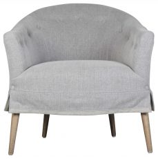 Block & Chisel upholstered button tufted tub chair