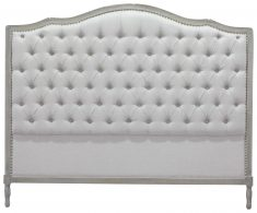 Block & Chisel grey button tufted king size headboard