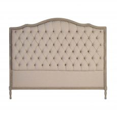 Margaret Headboard King size in stone neutral with tufted detail