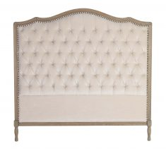 Margaret Headboard Queen size in Beige neutral with tufted detail