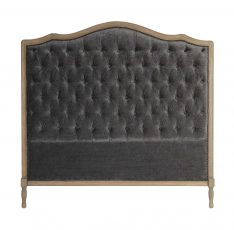 Deep buttoned headboard with wooden frame