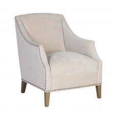 Vera upholstered chair in beige