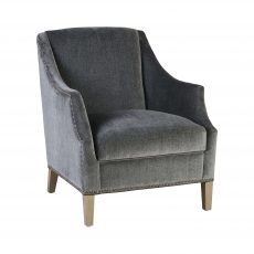 Block & Chisel silver grey upholstered occasional chair