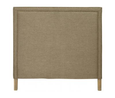 Block & Chisel grey upholstered queen size headboard