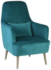 Block & Chisel emerald velvet upholstered occasional chair