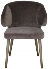 Block & Chisel brown velvet upholstered dining chair