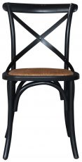 Block & Chisel black distressed birch wood crossback dining chair