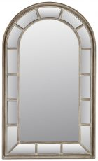 Block & Chisel mirror with arched top and mirrored frame