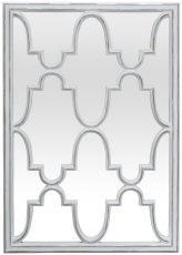 Block & Chisel mirror with inside shaped panels