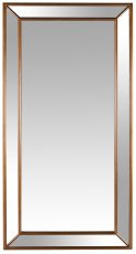 Block & Chisel mirror with mirrored frame
