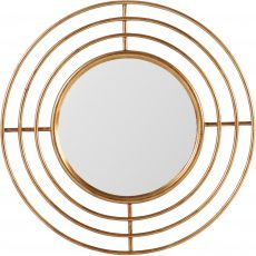 Block & Chisel round mirror with metal frame
