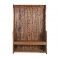 Reclaimed fir wood entrance hall stand with hooks