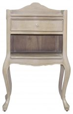 Block & Chisel 1 draw bedside table with shelf