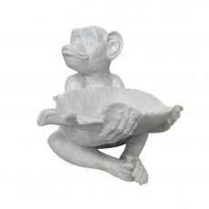 monkey bowl in white