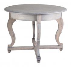 Block & Chisel round solid railway oak table