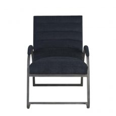 Block & Chisel charcoal corduroy upholstered occasional chair