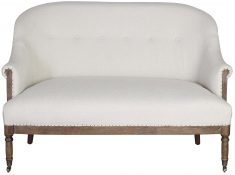 Block & Chisel ivory upholstered 2 seater sofa