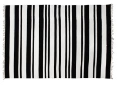 Block & Chisel black and white striped rug