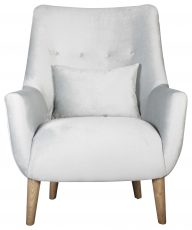 Block & Chisel sage high back armchair