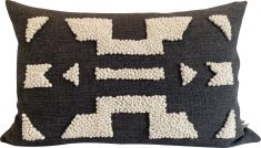 punch needle scatter cushion charcoal