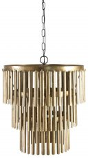 Block & Chisel metal 3 tier chandelier with antique gold finish