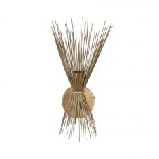 Metal wall light sconce with reed detail