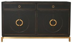 Block & Chisel Black Laquered Chinese Sideboard